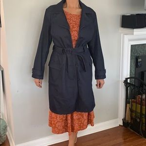 GAP Dark Blue Denim Trench Coat